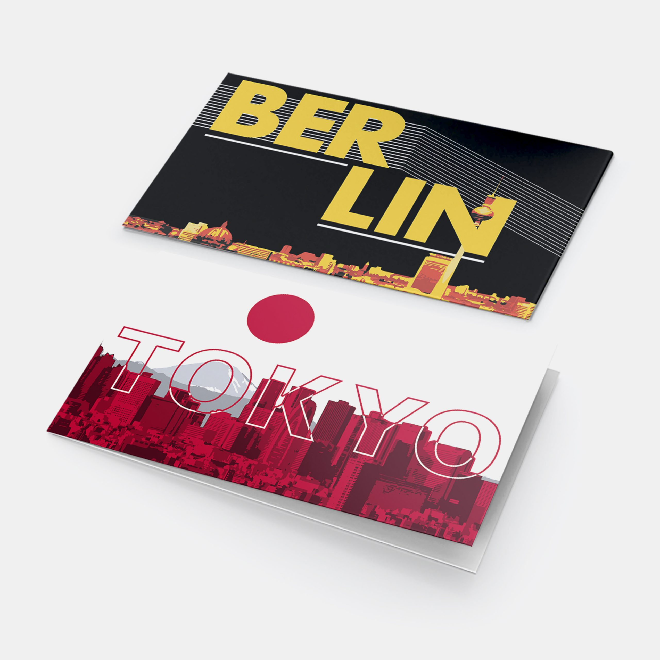 Cover Designs for Brochures on Tokyo and Berlin