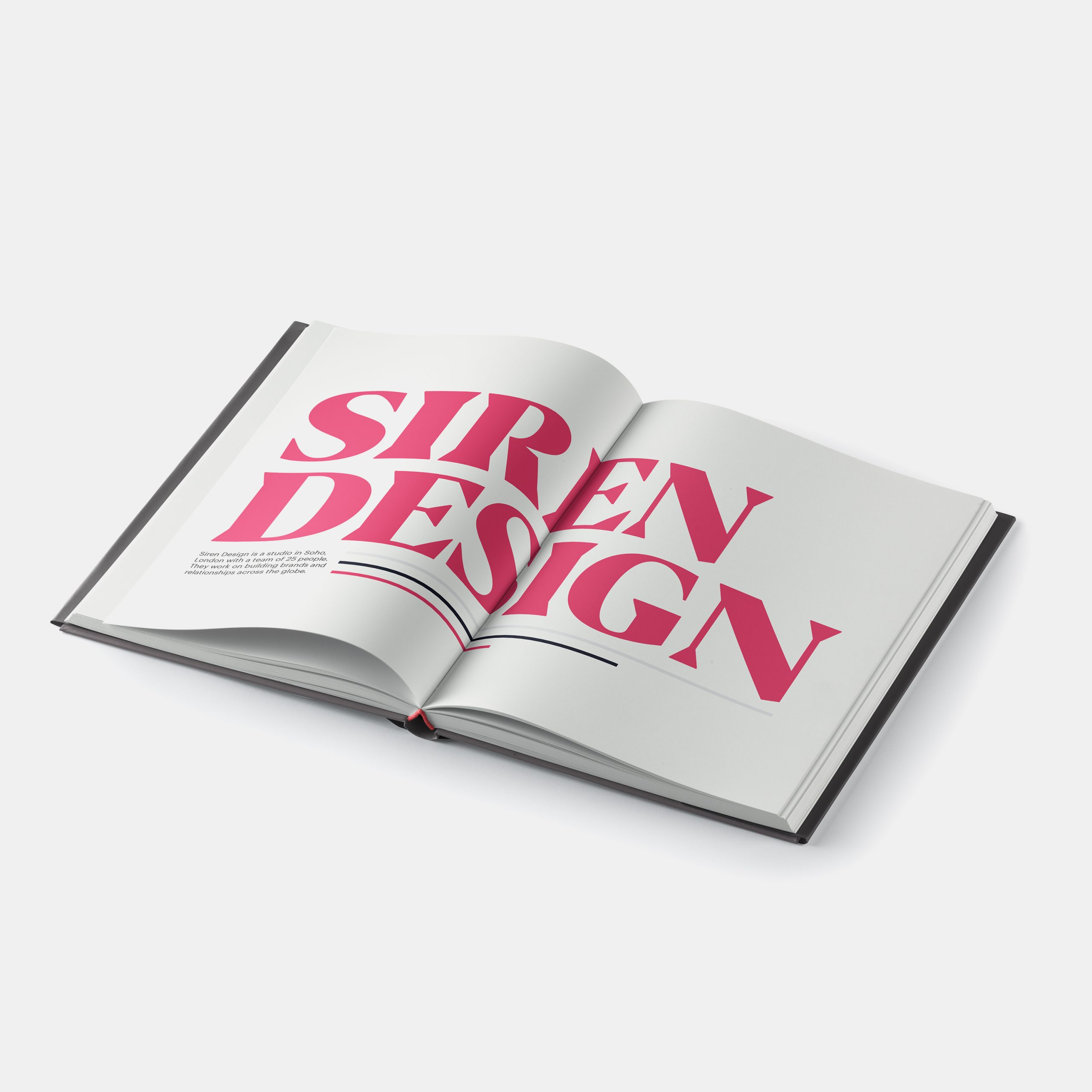 A two page spread at the start of Siren Design article